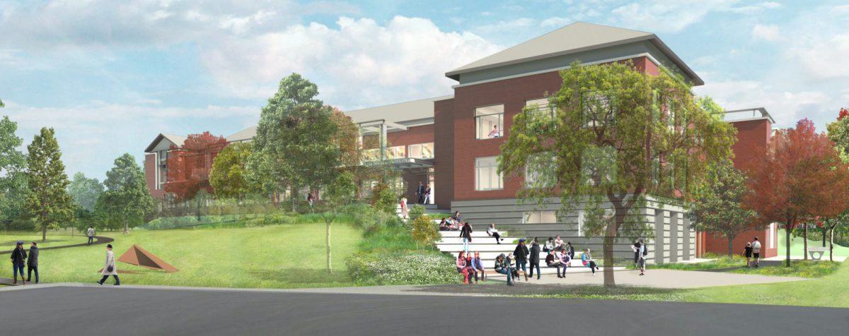 Westport Library - Exterior Rendering